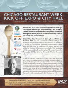 Chicago Restaurant Week Kick Off Expo at City Hall, with David Morton, Accion Chicago, WBDC, Score, IRS and The Law Project . #Chicago #City Hall #Restaurantweek #Chismallbiz