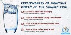 Drinking water at the correct time as well as drinking it in the right amount are both equally important #healthtips
