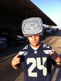 Seahawks super bowl ring hat