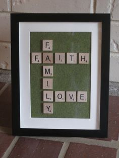 Faith Family Love...minus the green maybe...digging the polka dots