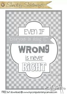 Wrong is never right!