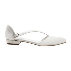 This Italian Duchess silk satin slip on in Ivory is an elegant design for your perfect occasion. It can also be ordered in various other colours be embellished to your preference. Handmade. Heel Height: 1.5cm