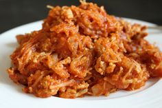 Spaghetti Squash and Meat Sauce on theadventuresofnutrigirl.wordpress.com Paleo, Whole 30, dairy-free and gluten-free!