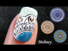Pin Now, Watch later :) China Pattern Stamping Nail Art Design Tutorial. More videos on my youtube channel. http://www.youtube.com/meliney