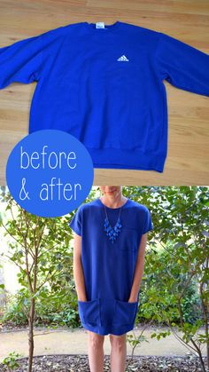 DIY: Sweatshirt Dress