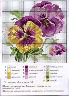 Gallery.ru / Foto nº 95 - 334 - markisa81 Cross Stitch Charts, Cross Stitch Designs, Cross Stitch Patterns, Ribbon Embroidery, Cross Stitch Embroidery, Embroidery Patterns, Cross Stitch Flowers, Cross Stitching, Zoom Zoom
