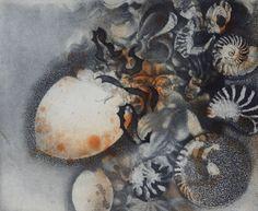 Work In Australia, Etching Prints, Collagraph, Printmaking, Sea Shells, Mosaic, Watercolor, Gallery, Drawings