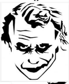 Dark Knight Joker Silhouette Chart/Graph by on Etsy Joker Stencil, Stencil Art, Stenciling, Minion Stencil, Pumpkin Stencil, Pumpkin Carving, Joker Pumpkin, Doodle Drawing, Face Stencils