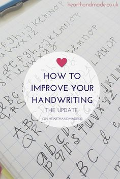 A blog post full of ideas and tips to help you improve your everyday handwriting and perhaps progress to decorative lettering
