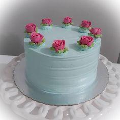 Buttercream Cake Designs, Buttercream Birthday Cake, Pretty Cakes, Beautiful Cakes, Amazing Cakes, Cupcakes, Cupcake Cakes, Fancy Cakes, Mini Cakes