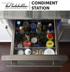 TRUE Refrigerator Drawers provide endless ways to organize your kitchen the way you actually use it.