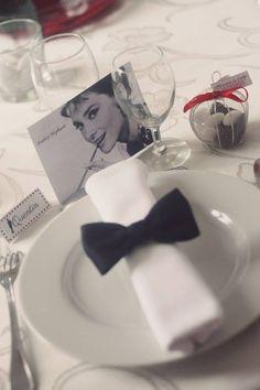 Bow tie 40s Wedding, Elegant Wedding, Wedding Gifts, Deco Theme Cinema, Angel Theme, Mystery Dinner, Hollywood Theme, Look Vintage, Wedding Anniversary