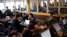 """Coffee Shop Buzz Is Good For Your Creativity:  """"... if you want to get that novel finished or make major headway on your project. A new study suggest the ambient background noise or buzz of conversation in public places can fuel creativity."""""""