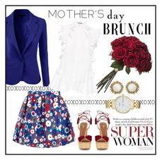 """Mother's Day Brunch"" by designed-4-life ❤ liked on Polyvore featuring LE3NO, House of Holland, Aquazzura, Kendra Scott, Kate Spade and Alexander McQueen"