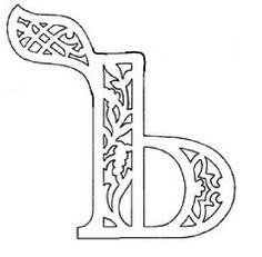 вытынанка русские буквы алфавит трафарет ь