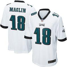 Mens Nike Philadelphia Eagles #18 Jeremy Maclin Game White Jersey $79.99