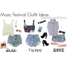 """""""Music Festival Outfit Ideas"""" by allielovesyoumore on Polyvore"""