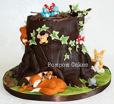 woodland animal cakes | woodland cake by pompom cakes 5
