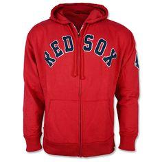 Red Sox Striker Full Zip Hood - Red