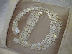 Letter 'D' Pillow Monogrammed in Vintage by letterperfectdesigns