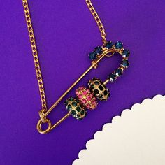 $19.00. Vintage Safety Pin Necklace---there's only and will ever be one.  Favorite vendor, of course.