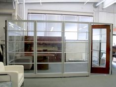 Interested in transforming your office space? Arnold's Office Furniture has what your project needs, give us a call today for a quote! Office Cubicle Design, Used Cubicles, Custom Desk, High Walls, Office Workspace, Sound Proofing, Doors, Herman Miller, Office Ideas