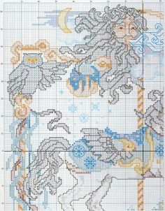 Carousel Horses In Cross Stitch By Donna Kooler and Linda Gillum Fantasy Carousel Horse Part 2 of 5
