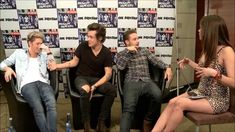 Interview with One Direction. Oh My Gosh this interview!!!!!!! This made me feel so uncomfortable, and she keeps telling them to shut up!