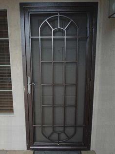 Wrought Iron Security Doors, Steel Security Doors, Security Gates, Security Screen, Wrought Iron Doors, Door Grill, Window Grill Design, Door Gate Design, House Doors