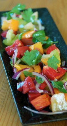 Rustic Heirloom Tomato Salad