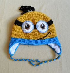 Baby boy minion hat winter minion hat ready to ship by KoSGan