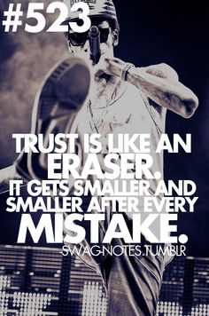 trust... We all make mistakes.