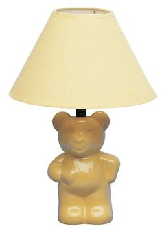 ORE International 13 in. Ceramic Teddy Bear Yellow Lamp - The Home Depot Blue And Yellow Living Room, Blue Table Lamp, Pink Table, Table Lamps, Teddy Bear Design, 6 Tag, Kids Room, Light Blue, Ceramics