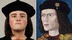 Facial reconstruction from Richard III's skull and a 15th Century portrait.