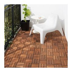 IKEA - RUNNEN, Decking, outdoor, Floor decking makes it easy to refresh your terrace or balcony.The floor decking can be cut if you need to fit it around a corner