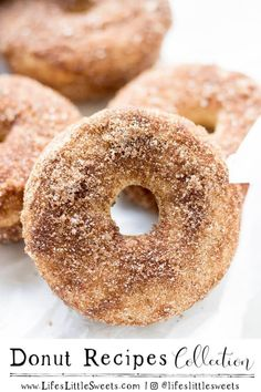 'Tis the season with our collection of donut recipes made to please! Enjoy this fall with Baked Apple Cider Donuts Pumpkin Spice Baked Donuts and more. These baked donut recipes are simply delicious! Fall Dessert Recipes, Spring Recipes, Fall Desserts, Sweets Recipe, Dinner Recipes, Breakfast Recipes, Baked Donut Recipes, Baked Donuts, Doughnuts