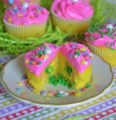 Easter Cupcakes Funfetti Surprise - Flour On My Face