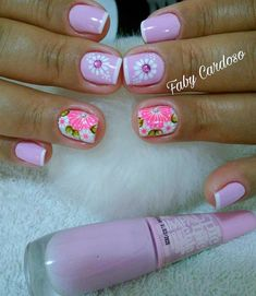 35 Modelos de Unhas com Esmaltes Rosa Manicure Y Pedicure, Healthy Eating For Kids, Video Games For Kids, Breakfast For Kids, Summer Nails, Pretty Nails, Free Food, Hair And Nails, Nail Designs