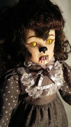 Luna - Creepy Werewolf Porcelain Doll