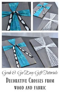 How to make an easy fabric and wood cross. These are so cute!