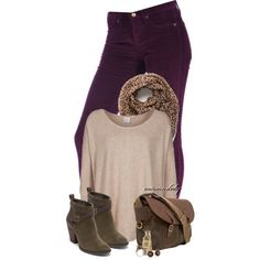 Arrival of Autumn, created by autumnsbaby on Polyvore - I can't wear that color top (although perhaps if the scarf were more my shades...)