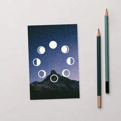 Get the entire Winter 2020 Collection in the Owls & Indigo Store. #stationary #postcard #boho #giftideasforher #bohogift Each design is a high-quality matte postcard made to foster your connection and keep your relationships strong. Night Sky Moon, Night Skies, Strong Relationship, Relationships, Modern Bohemian, Boho, Moon Phase Calendar, Star Gift, Gsm Paper