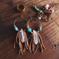 12 Pairs Drop Dangle Earrings hippie ethnic boho Fashion Jewelry funky cheap Vintage Statement Boho Bohemian Earrings Set for Women Gift – Fine Jewelry & Collectibles Leather Earrings, Leather Jewelry, Beaded Earrings, Beaded Jewelry, Handmade Jewelry, Diy Boho Earrings, Crystal Earrings, Gemstone Jewelry, Hemp Jewelry