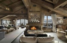 Chalet lounge interior design