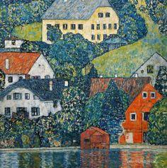 Gustav Klimt, Houses in Unterach on Attersee, Austria, 1915/16