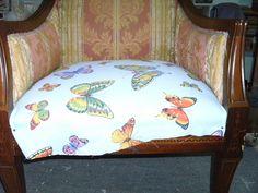 Tapizado de butacas de cebra a mariposas de colores | Hacer bricolaje es facilisimo.com