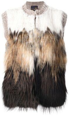 fendi Fur Panel Gilet - Lyst   www.thecarmacouture.com