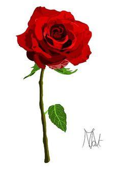 1000 images about digital painting dessin creatif on - Dessin fleur rose ...