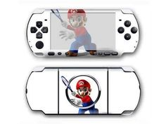 Super Mario Galaxy PSP 3000 cover for PSP 3000 console. Choose your favorite design from a huge range of PSP 3000 covers collection for PSP 3000 console. Xbox One Skin, Console Styling, Ps4 Skins, Psp, Super Mario, Games To Play, Decal, Sticker, Cover