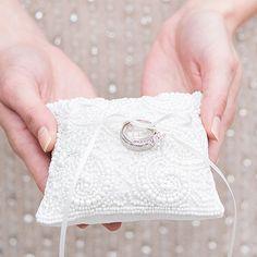Ringkissen Vintage Perlen